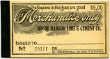 Roche Harbor Lime and Cement Company scrip