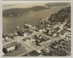 Aerial view of Friday Harbor with Brown Island
