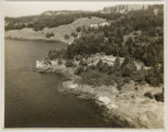 Aerial view of Lime Kiln Lighthouse