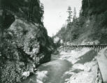 Building the dam of the Lower Baker River Project