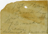 Hand-written note from 1914 bank robbery