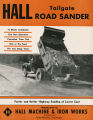 Hall Tailgate Road Sander advertisement