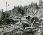 Logging scene with Skagit tower
