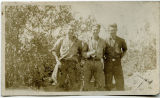 Three young men posing at Larch Mountain