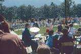 Band and audience at North Bonneville dedication