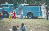 North Bonneville city picnic with new city fire truck