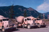 Cement trucks at new North Bonneville