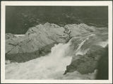 Kettle Falls 1918 Photo Album photograph 25: Lower falls - low water