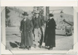 Suttons and Noble G. Root at Meyers Falls railroad station circa 1920-1939