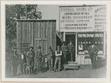 Eureka News Co., Republic, Washington newsstand and citizens circa 1900