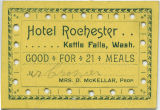 Meal ticket from Hotel Rochester