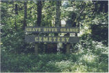 Grays River Grange Cemetery entrance sign