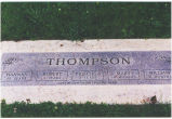 Headstone, Thompson children lost in 1888 diphtheria epidemic