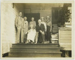Smalley family, Rosburg Grange Hall, 1936