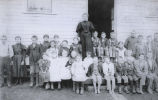 Grays River School, teacher and children, prior to 1900