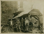 Portland Lumber Company loggers and donkey engine