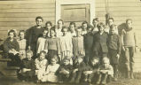 School children and teacher, Altoona, Washington