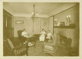 Bradley House, sitting room, 1916