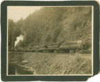 Kent's Bridge with Armstrong Logging engine & railroad cars