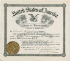 Blanche Heron (Bradley), certification as Wahkiakum County Auditor, 1914