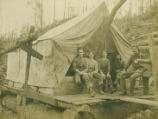Pelton Armstrong logging camp No. 1 tent