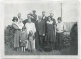 Clark family at Old Clinton Beach, Whidbey Island, circa 1932