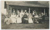 Cast of a play, Whidbey Island, Washington, 1918