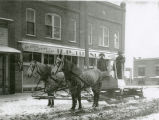 Horse-drawn sled, Rosalia, Washington, 1924