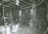 Charles J. Hall and his blacksmith shop