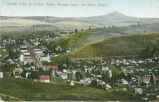 Partial view of Colfax, Wash. Steptoe Butte, ten miles distant