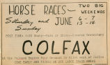 Horse race advertisement