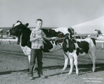 Jim Simpson and his champion Holstein