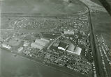 Aerial view of the Palouse Empire fairgrounds, Mockonema, Washington, 1969