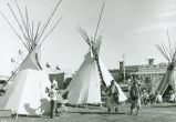 Indian tepees at the Palouse Empire Fair