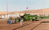 Combine races at the Palouse Empire Fair