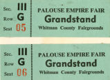 1967 Palouse Empire Fair grandstand tickets