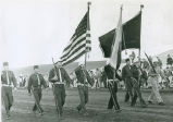 Colfax American Legion color guard, Palouse Empire Fair, Mockonema, Washington, 1963