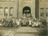 Albion school and students, Albion, Washington, 1905