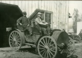 Ed A. Stover and his International automobile