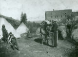 Indian camp in Colfax, Washington