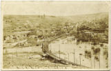 Palouse River flood in Colfax, Washington, 1909