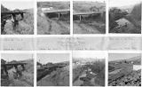 Multiple views of the South Fork of the Palouse River in October of 1964