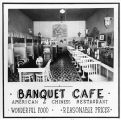 Banquet Cafe advertisement, Tekoa, Washington, 1938