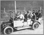 L. L. Bruning's first automobile