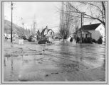 1948 flood of Main Street in Colfax, Washington