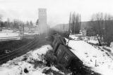 Train wreck at Pine City, Washington, 1950