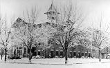 St. John School during winter of 1950