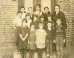 Third and Fourth grade class at Thornton, Washington