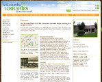 Mid-Columbia Libraries promoting Prosser Heritage on homepage, Prosser, Washington, August 23,...