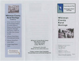 Whitman County Rural Heritage pamphlet, Colfax, Washington, 2009